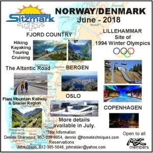 Sitzmark Ski Club - Norway June 2018