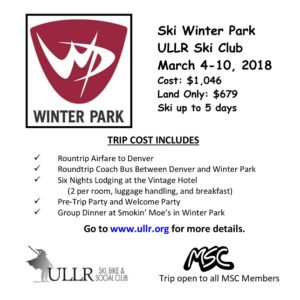Ullrs Ski Club - Winter Park March 4 - 10, 2018